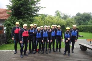 Jugendausflug 2017 Isar-Rafting