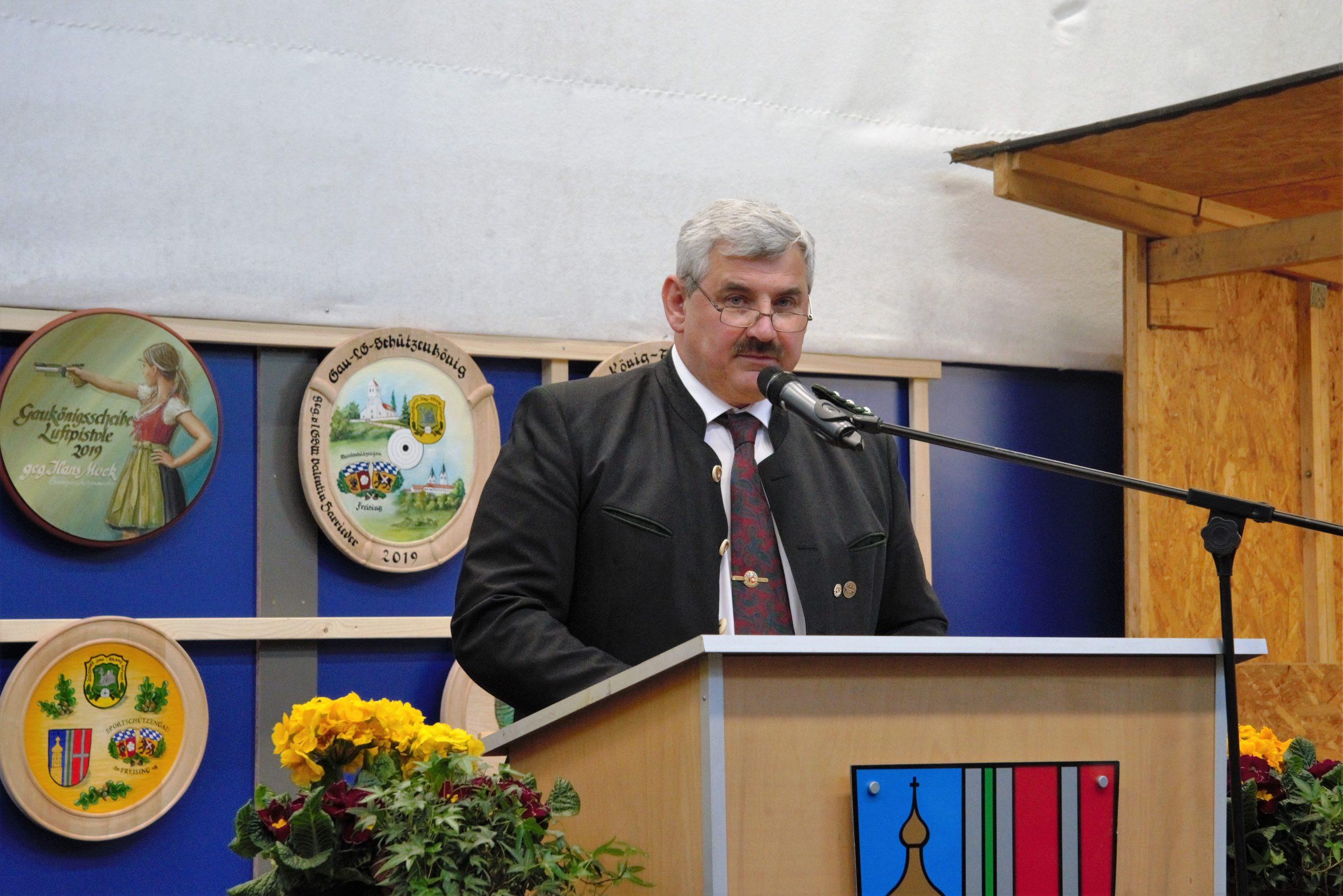 Gauschützenmeister Valentin Harrieder